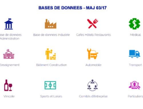 Actualités Mars 2017 Base de données de professionnels particuliers & Comités d'Entreprise