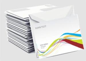 personnalisation des envois, fourniture des enveloppes, mise sous pli, affranchissement économique, dépôt poste, routage