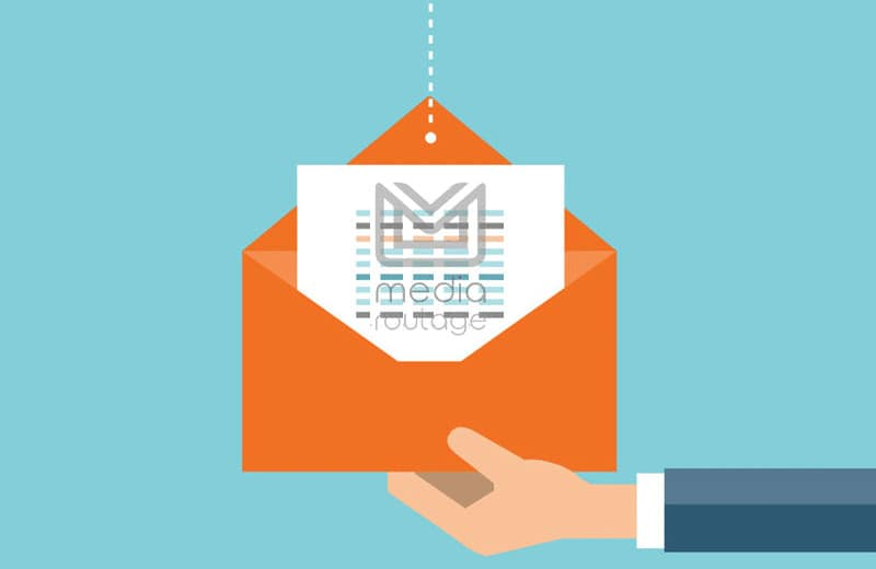 illustration envoi courrier de prospection media routage
