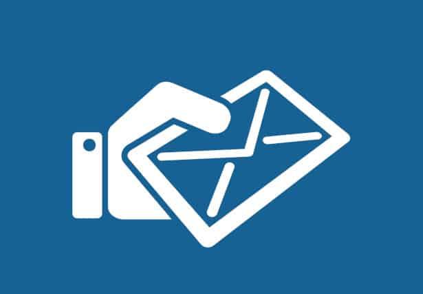 pictogramme enveloppe tendue